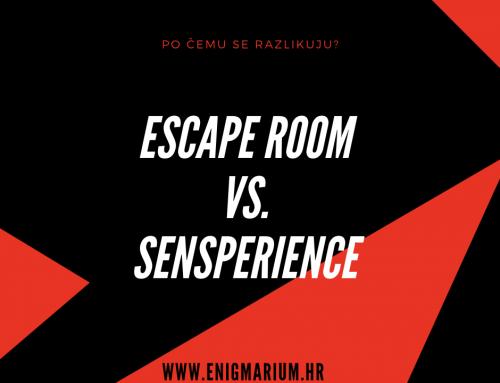 Koja je razlika između Sensperience avanture i escape rooma?